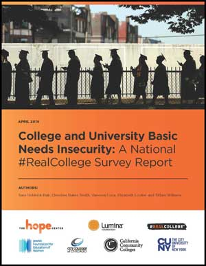 Cover of College and University Basic Needs Insecurity: A National #RealCollege Survey Report